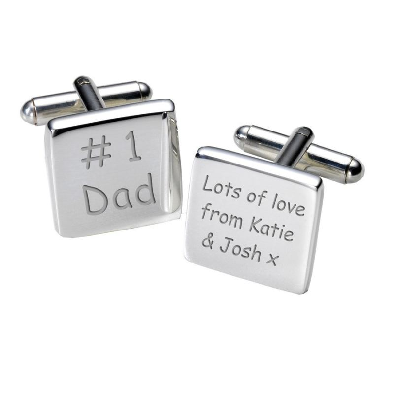 # 1 Dad Cufflinks - Square product image