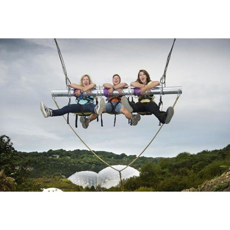 Eden Project Entry with Zip Wire, Giant Swing and Big Air for Two product image