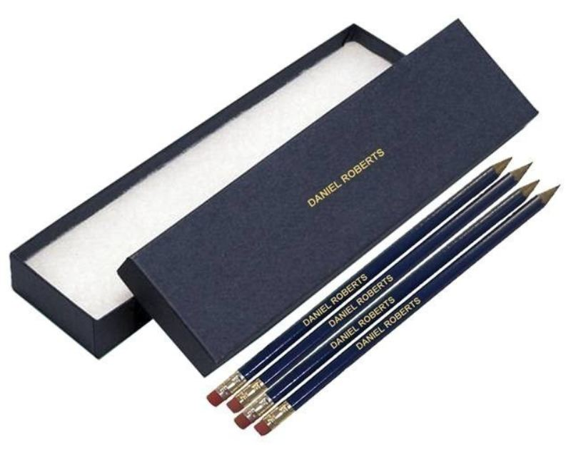 12 Blue Pencils in a Blue Box product image