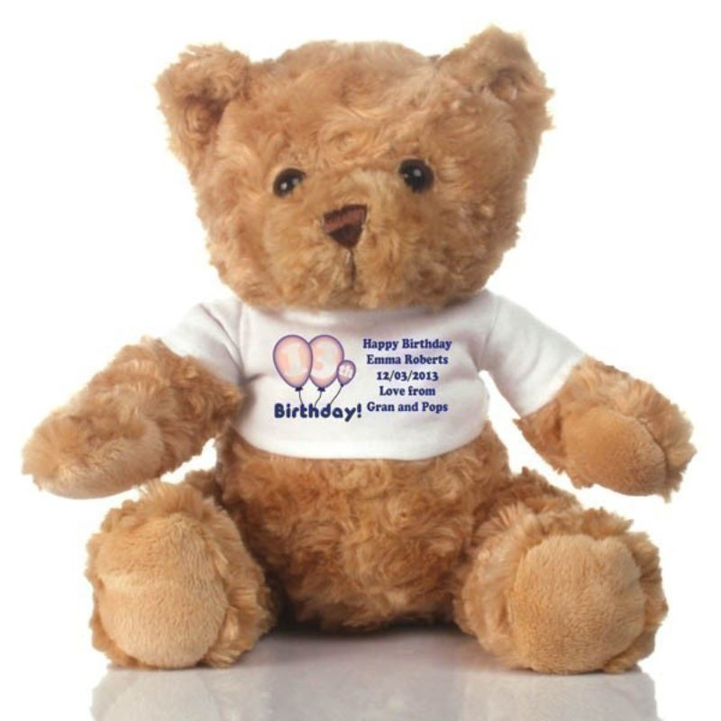13th Birthday Personalised Teddy Bear product image