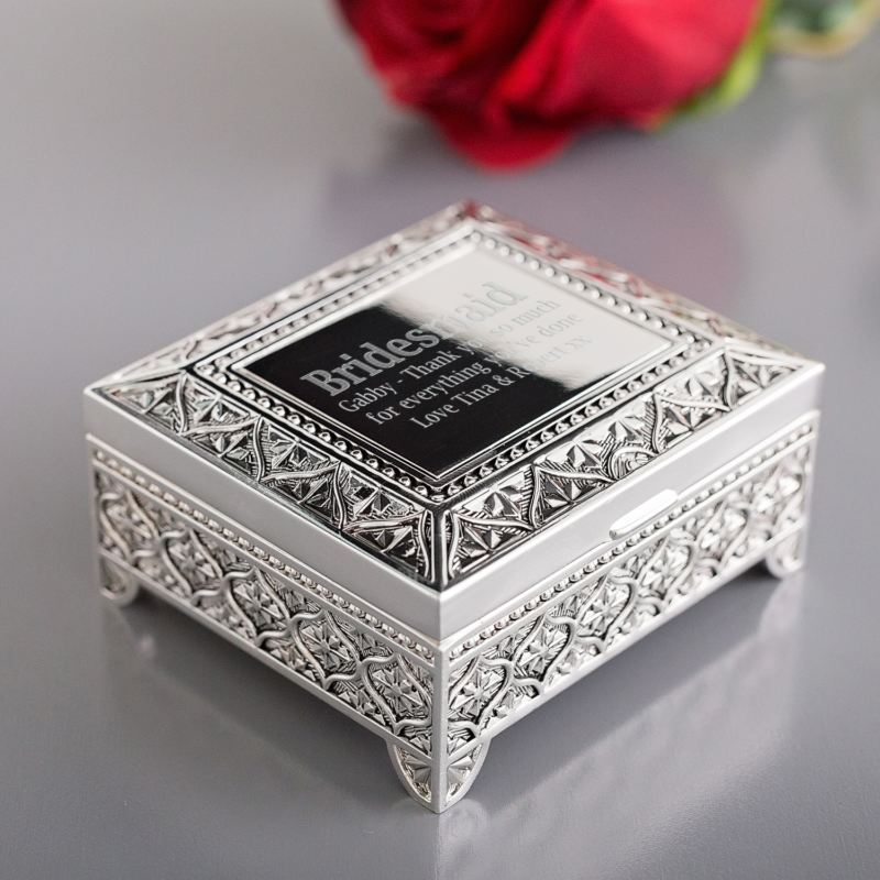 Bridesmaid Engraved Trinket Box product image