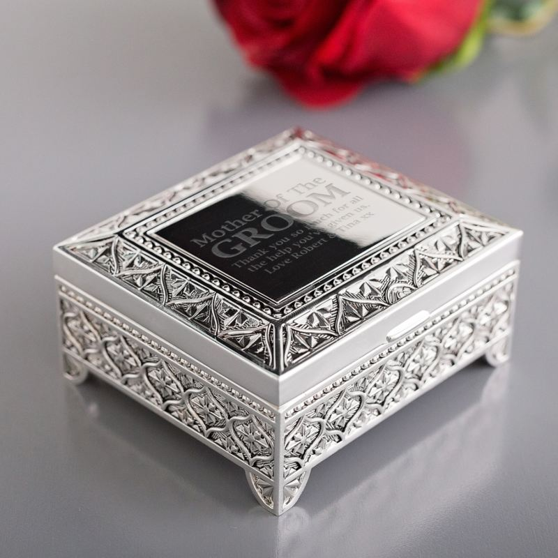 Mother of the Groom Engraved Trinket Box product image