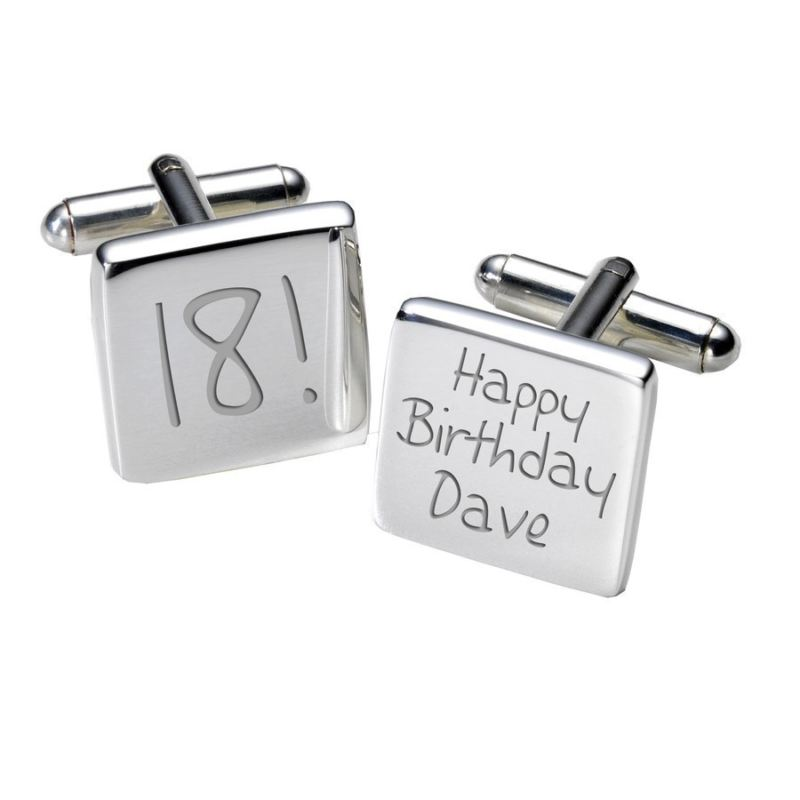 18th Birthday Cufflinks - Square product image
