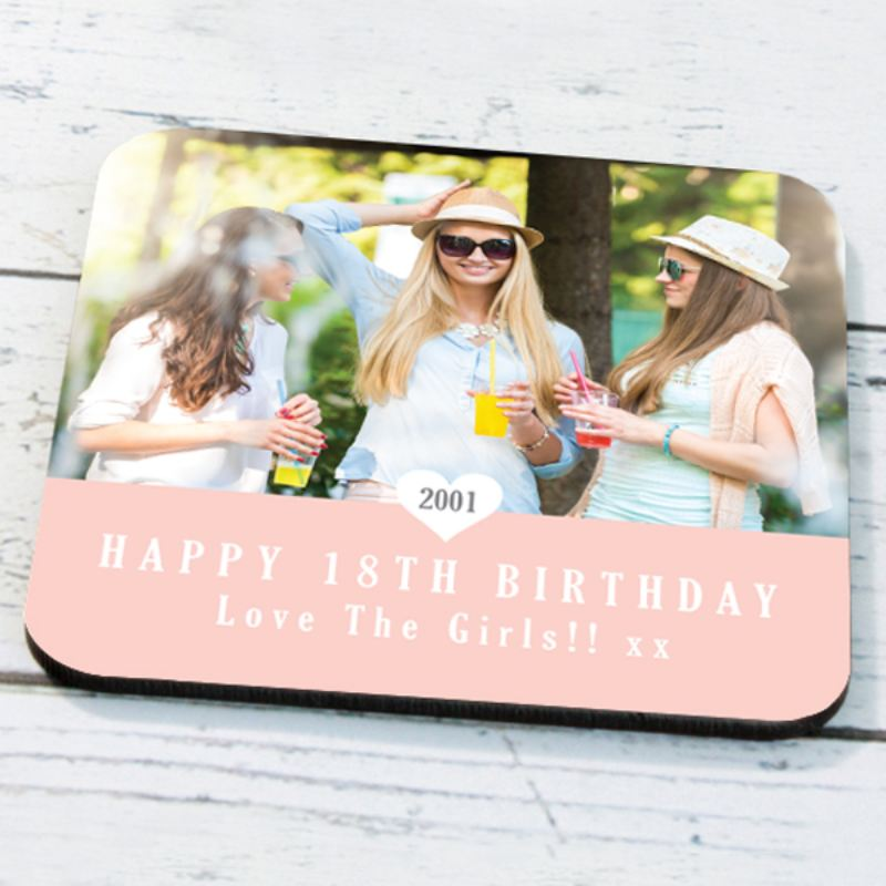 Personalised 18th Birthday Photo Coaster product image