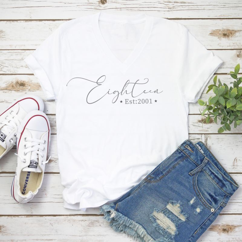 Personalised 18th Birthday Women's T-shirt product image