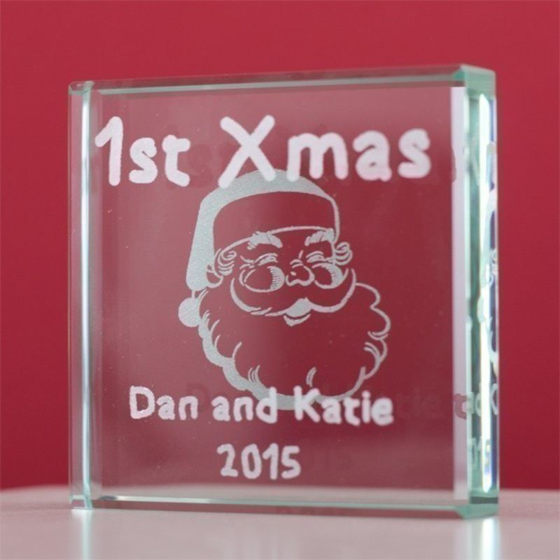 1st Xmas Glass Keepsake product image