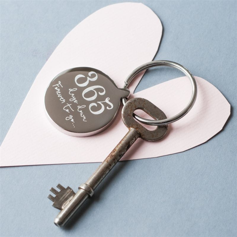 Personalised 1st Wedding Anniversary Keyring product image