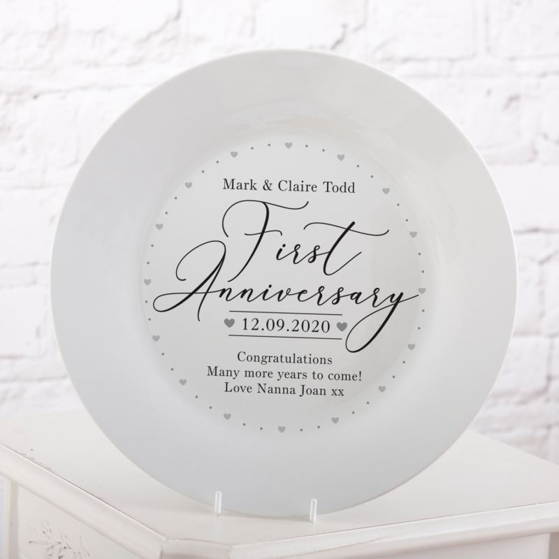 Personalised 1st Wedding Anniversary Plate product image