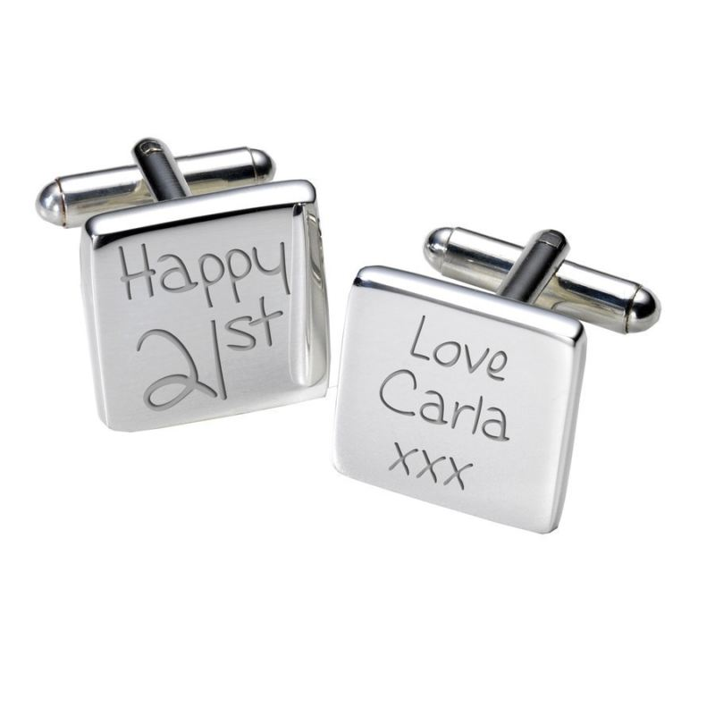 21st Birthday Cufflinks - Square product image