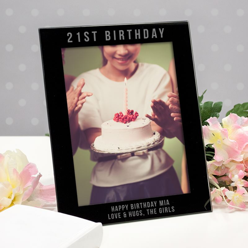 Engraved 21st Birthday Photo Frame product image