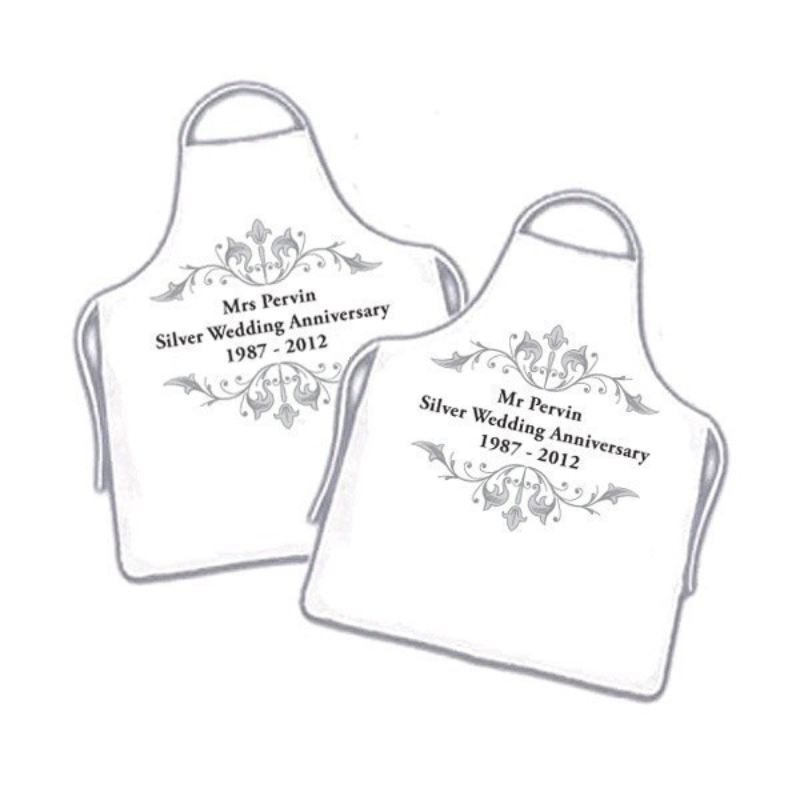 25th Wedding Anniversary Aprons product image