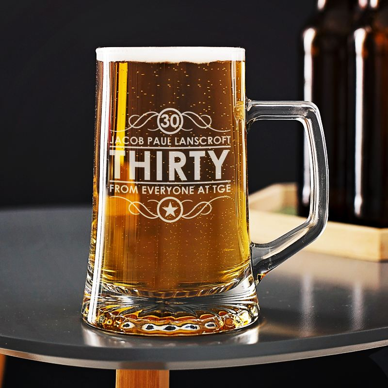 Engraved 30th Birthday Beer Tankard product image