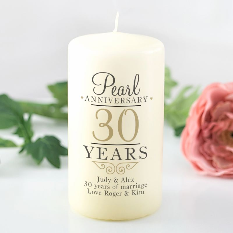 Personalised 30th Wedding Anniversary Candle product image