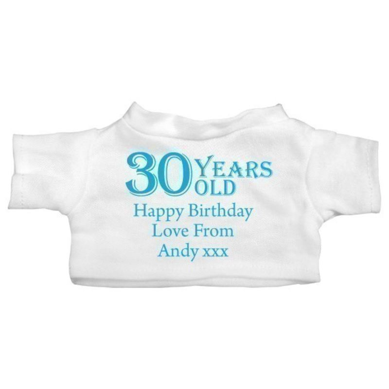 30th Birthday Personalised Teddy Bear product image