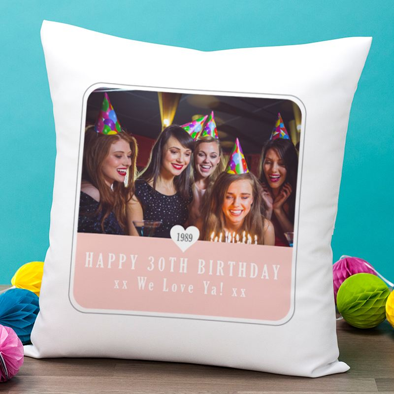 Personalised 30th Birthday Photo Cushion product image
