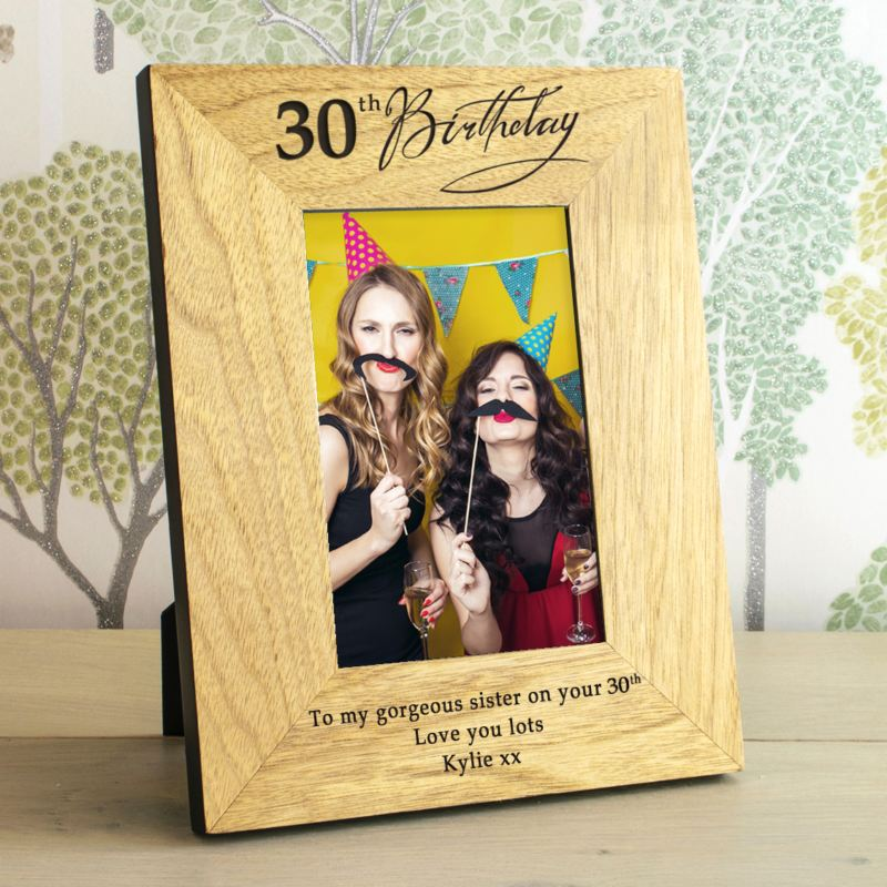 30th Birthday Wooden Personalised Photo Frame product image