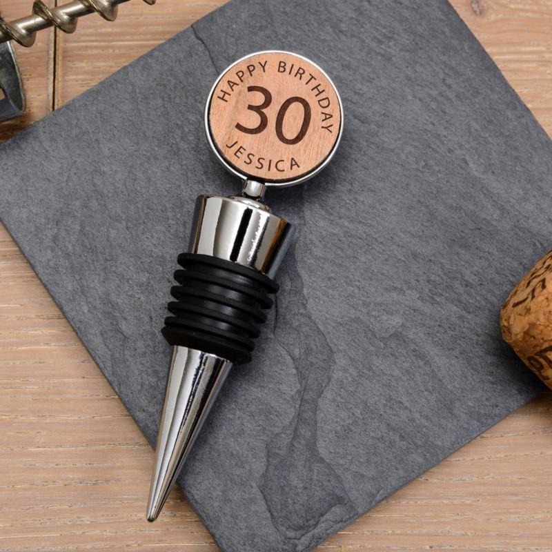 Personalised 30th Birthday Bottle Stopper product image