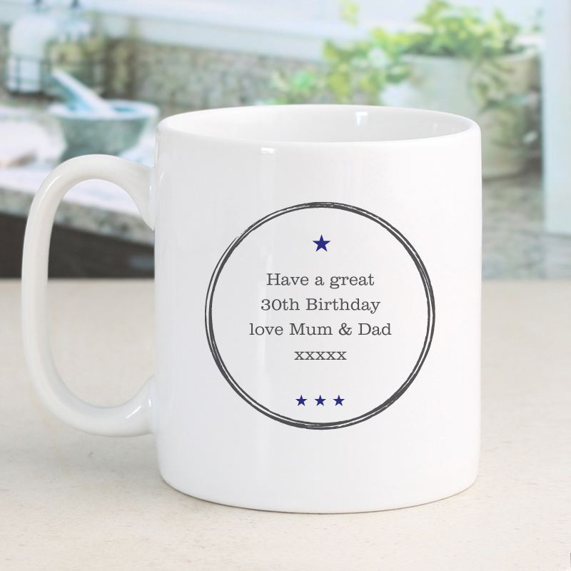 Personalised Established In 30th Birthday Male Mug product image