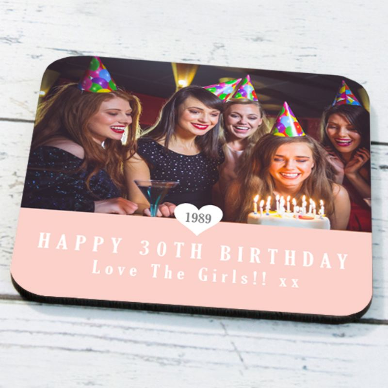 Personalised 30th Birthday Photo Coaster product image