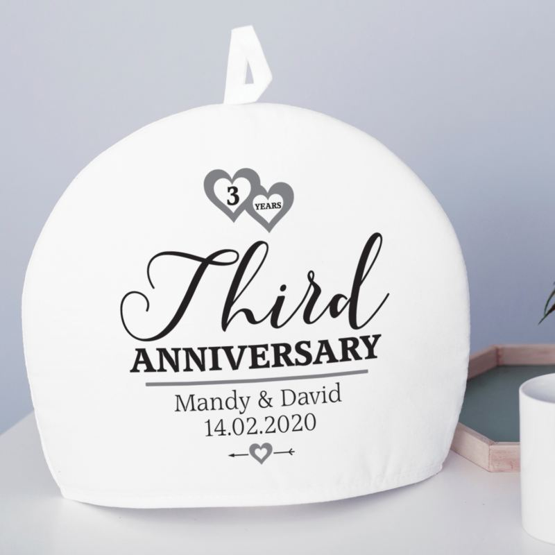 Personalised 3rd Wedding Anniversary Tea Cosy product image
