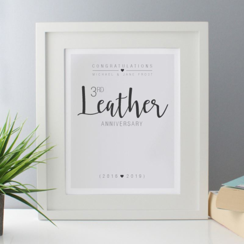 Personalised 3rd Anniversary Framed Print product image