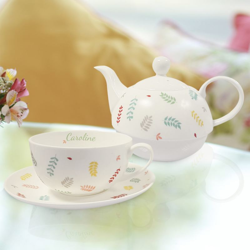 Personalised Scattered Leaf Tea For One product image