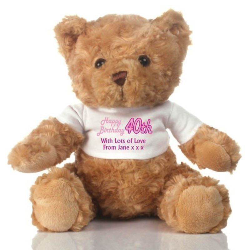 40th Birthday Personalised Teddy Bear product image