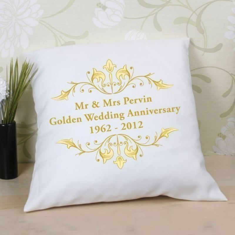 50th Anniversary For Husband Gifts: 50th Wedding Anniversary Cushion
