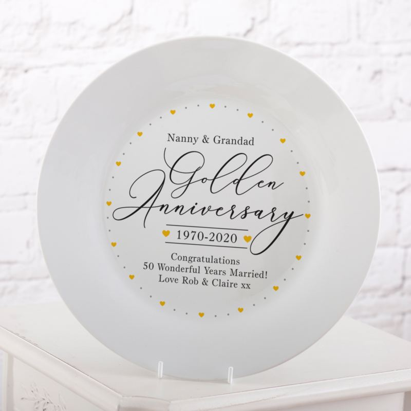 Personalised 50th Wedding Anniversary Plate product image