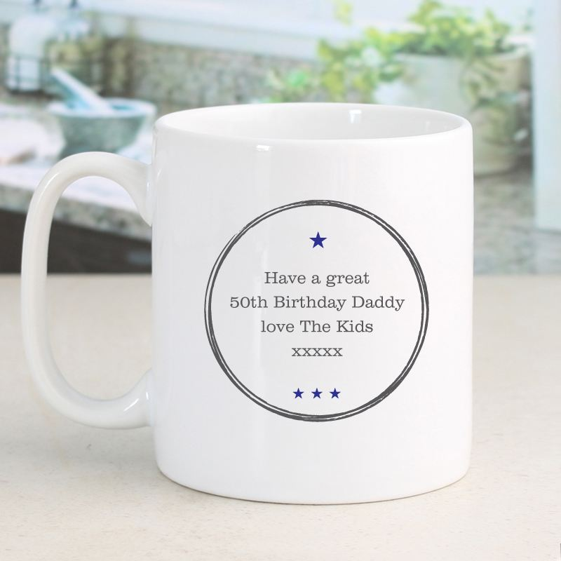 Personalised Established In 50th Birthday Male Mug product image