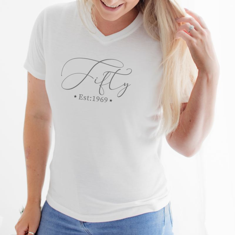 Personalised 50th Birthday Women's T-shirt product image