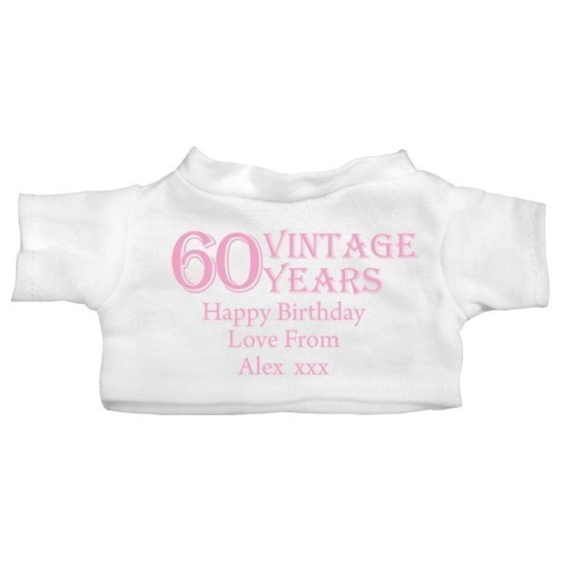 60th Birthday Personalised Teddy Bear product image