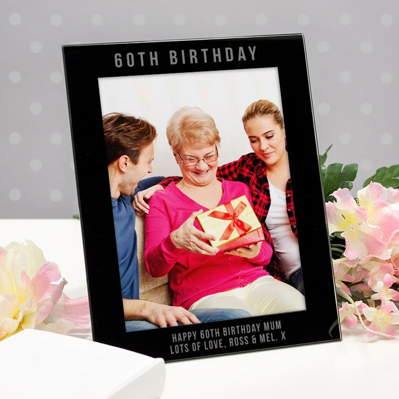 Engraved 60th Birthday Photo Frame product image