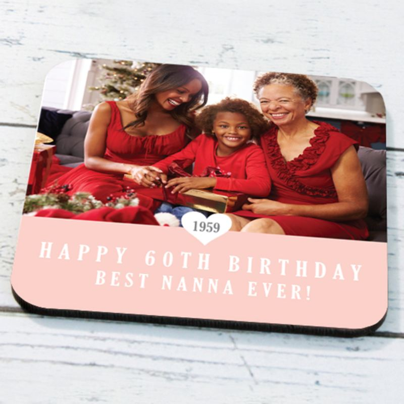Personalised 60th Birthday Photo Coaster product image