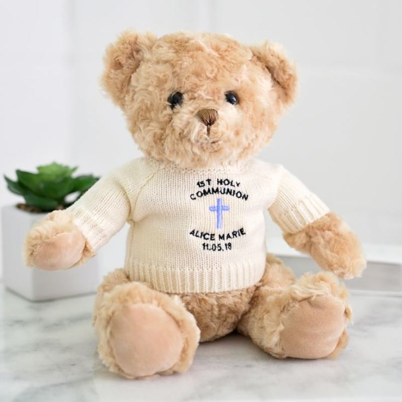 Personalised First Holy Communion Teddy Bear for a Boy product image