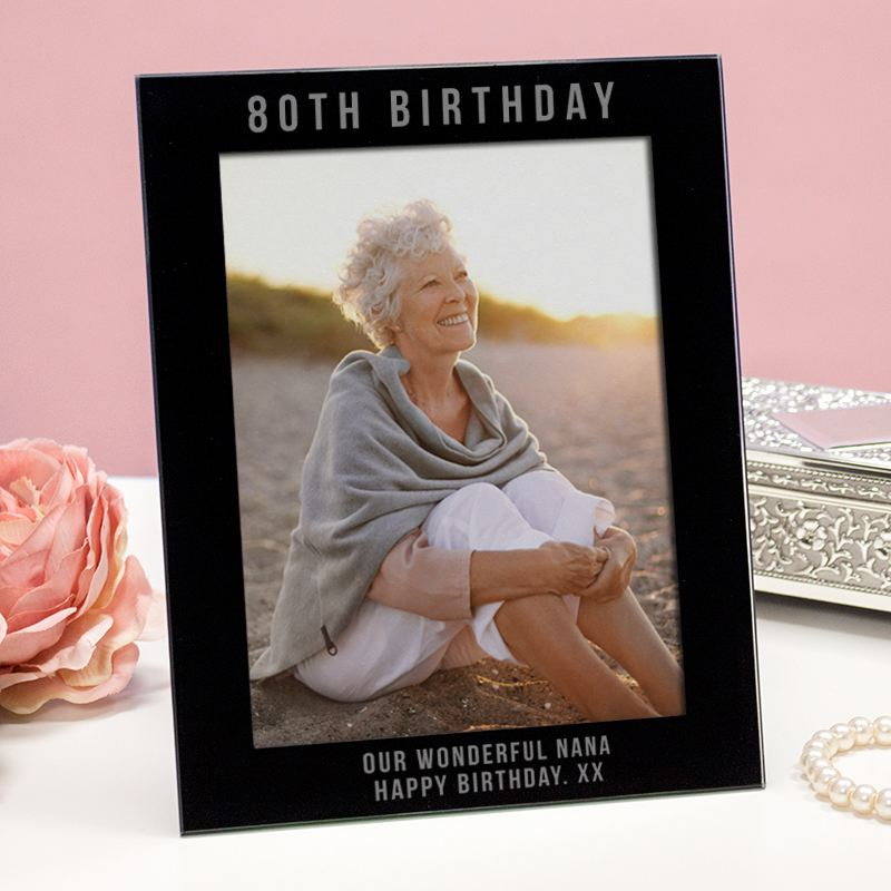 Engraved 80th Birthday Photo Frame product image