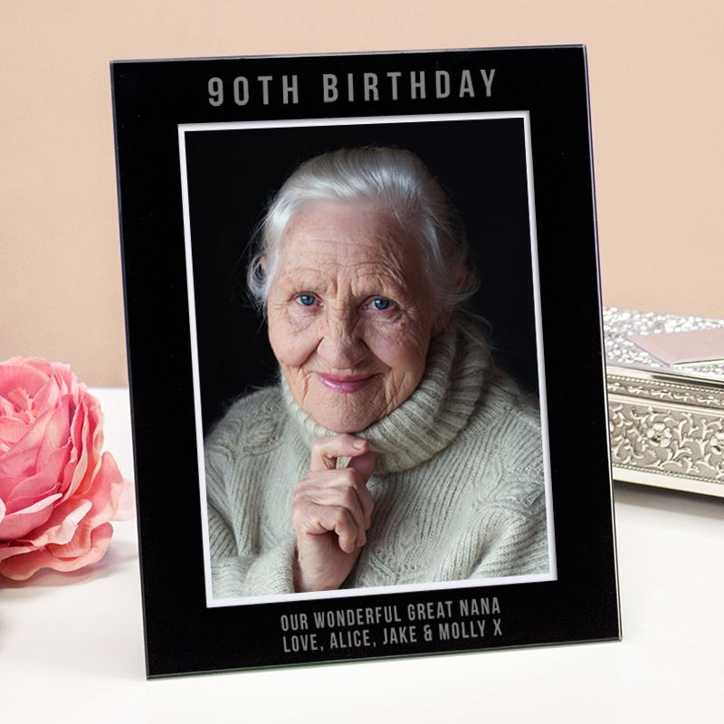 Engraved 90th Birthday Photo Frame product image