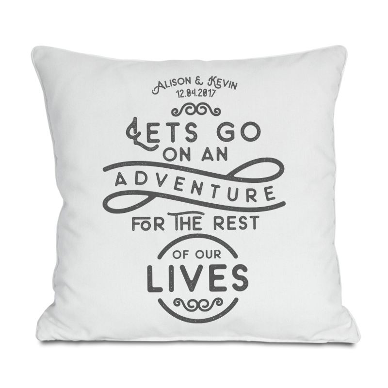 Let's Go On An Adventure Personalised Cushion product image