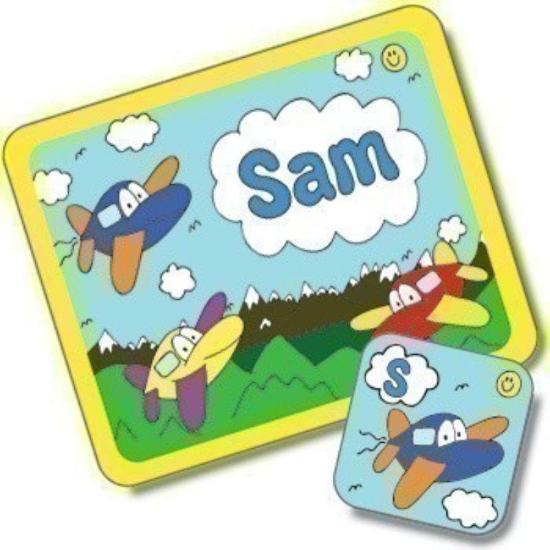 Aeroplane Design Placemat and Coaster Set product image