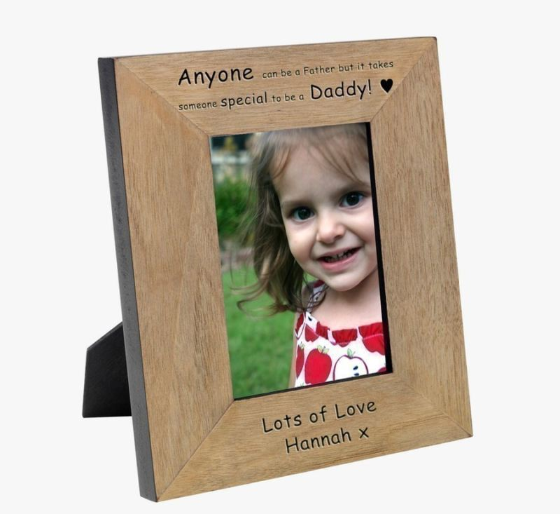 Anyone can be a Father Wood Photo Frame 6 x 4 product image