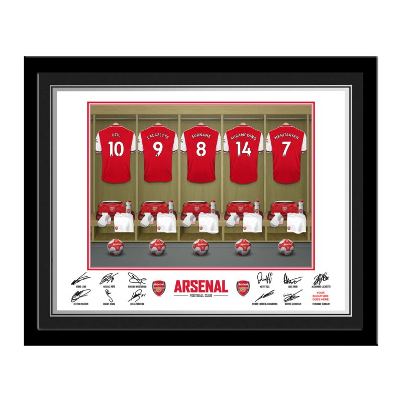Personalised Arsenal Dressing Room Photo product image