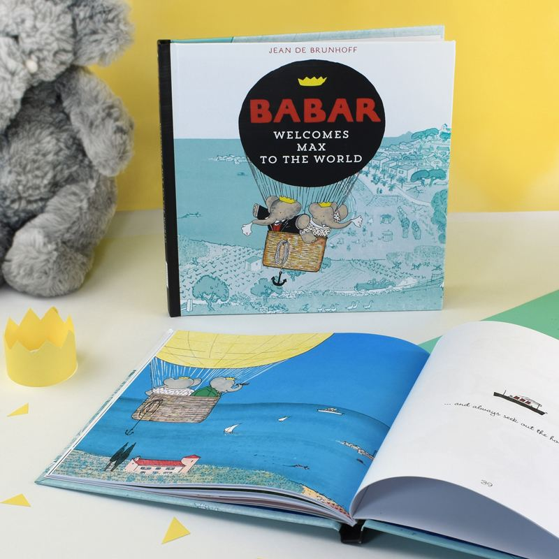 Babar Welcomes you to the World - Personalised Book product image