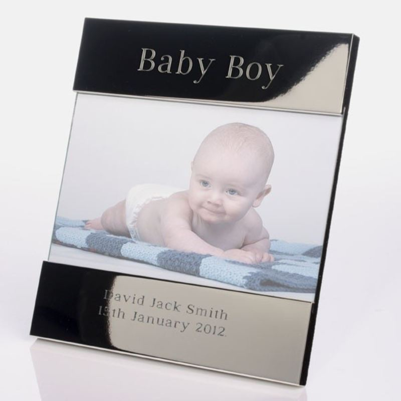 Baby Boy Shiny Silver Photo Frame product image