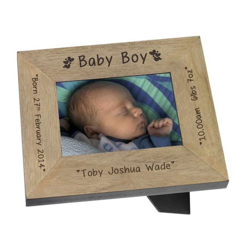 Baby Boy Wood Frame 6 x 4 product image