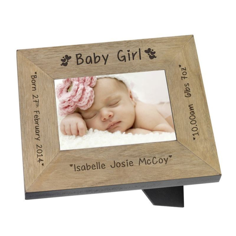 Baby Girl Wood Frame 6 x 4 product image