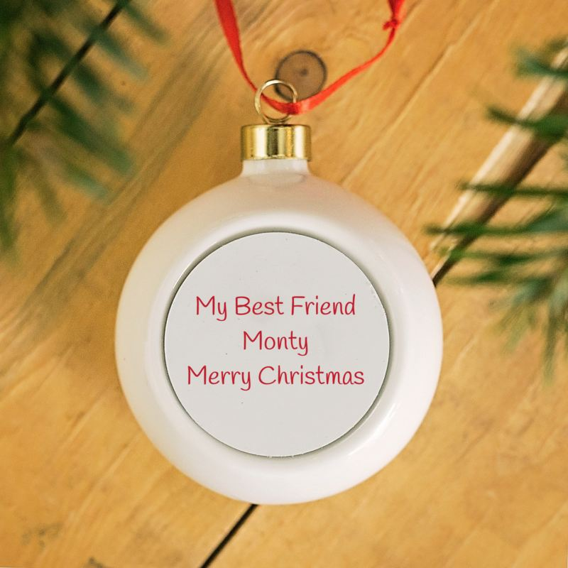 Personalised Merry Christmas Pet Photo bauble product image