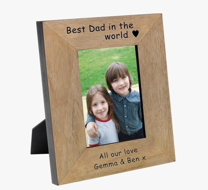 Best Dad in the World Wood Photo Frame 6 x 4 product image