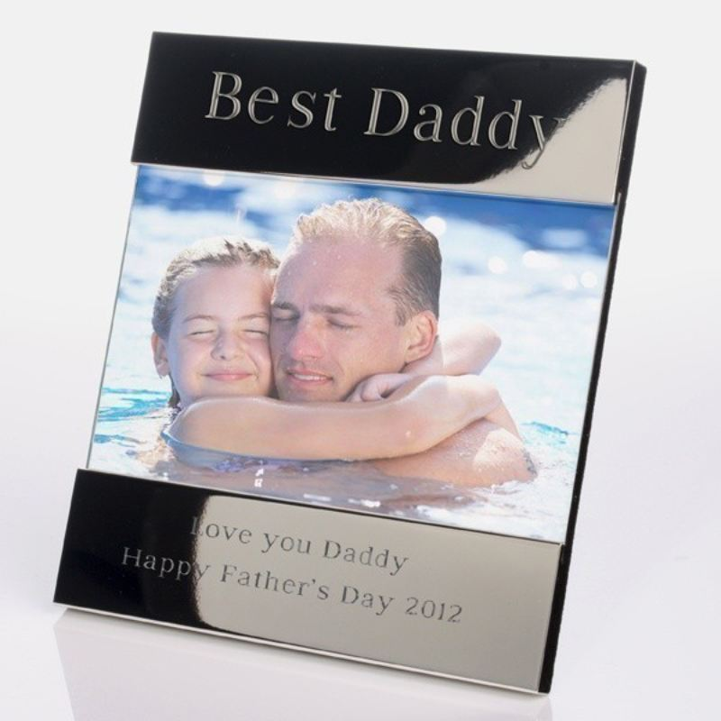 Best Daddy Shiny Silver Photo Frame product image