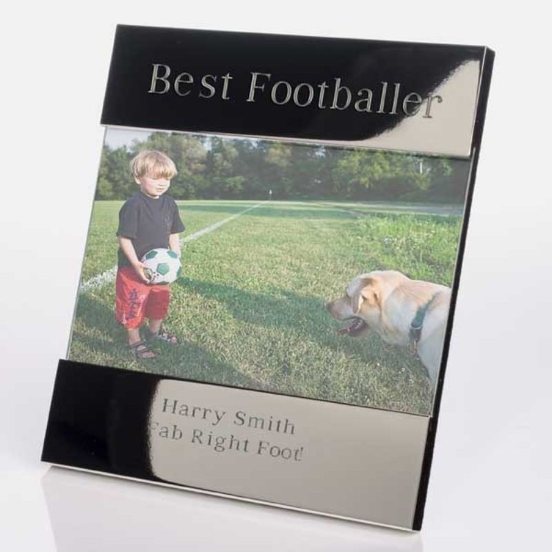 Best Footballer Shiny Silver Photo Frame product image