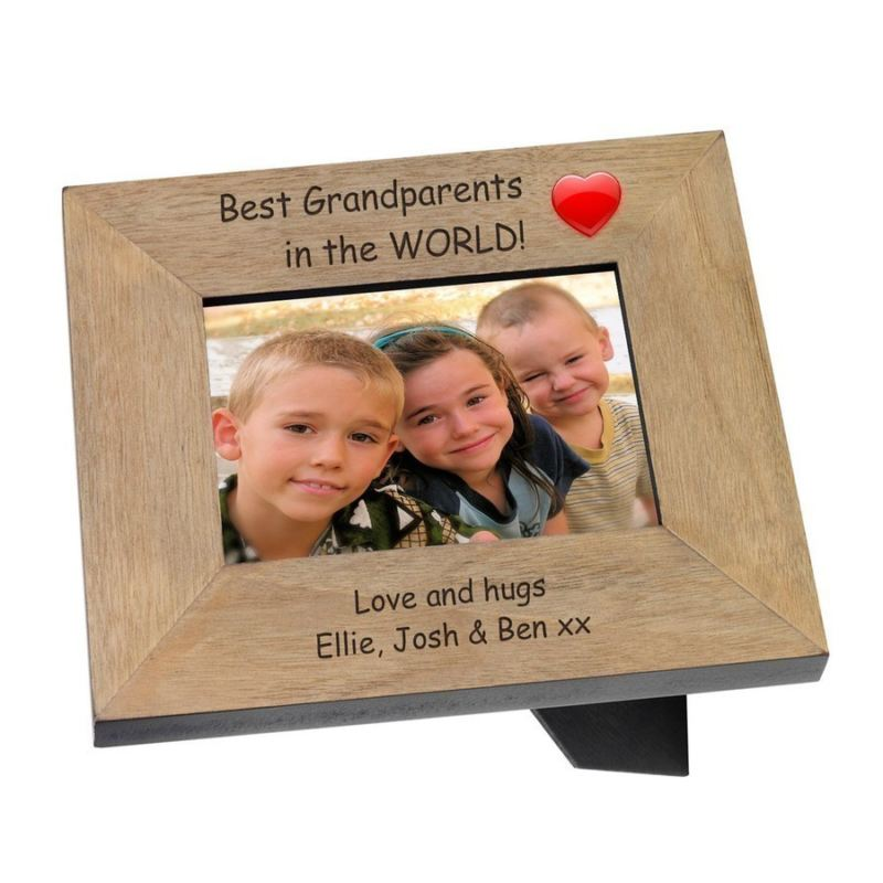 Best Grandparents in the World Wood Photo Frame 6 x 4 product image